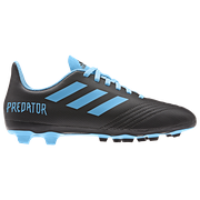 Adidas adidas Predator 19.4 FG - Boys Grade School / Core Black/Bright Cyan/Solar Yellow | Hard Wired