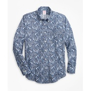 Brooksbrothers Luxury Collection Madison Classic-Fit Sport Shirt, Button-Down Collar Large Paisley Print