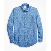 Brooksbrothers Luxury Collection Madison Classic-Fit Sport Shirt, Button-Down Collar Floral Print