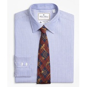 Brooksbrothers Luxury Collection Regent Fitted Dress Shirt, Franklin Spread Collar Track Stripe