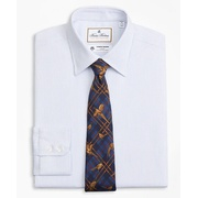 Brooksbrothers Luxury Collection Regent Fitted Dress Shirt, Franklin Spread Collar Textured Stripe