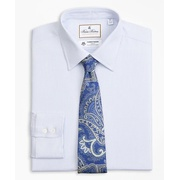 Brooksbrothers Luxury Collection Regent Fitted Dress Shirt, Franklin Spread Collar Broken Stripe