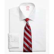 Brooksbrothers Stretch Traditional Relaxed-Fit Dress Shirt, Non-Iron Spread Collar