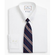 Brooksbrothers Luxury Collection Milano Slim-Fit Dress Shirt, Button-Down Collar Textured