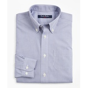 Brooksbrothers Boys Non-Iron Polo Button-Down Collar Micro-Check Dress Shirt