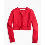 Brooksbrothers Girls Cotton Cropped Cardigan