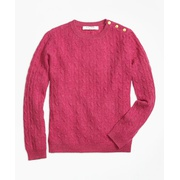 Brooksbrothers Girls Cashmere Cable Crewneck Sweater