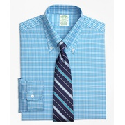 Brooksbrothers Original Polo Button-Down Oxford Milano Slim-Fit Dress Shirt, Plaid