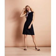 Brooksbrothers Stretch-Wool A-Line Dress