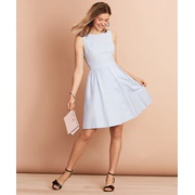 Brooksbrothers Irish Linen-Cotton A-Line Dress