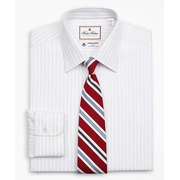 Brooksbrothers Luxury Collection Madison Classic-Fit Dress Shirt, Franklin Spread Collar Stripe