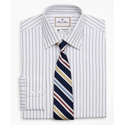 Brooksbrothers Luxury Collection Soho Extra-Slim-Fit Dress Shirt, Franklin Spread Collar Micro-Outline Stripe