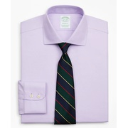 Brooksbrothers Stretch Milano Slim-Fit Dress Shirt, Non-Iron Royal Oxford English Collar