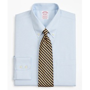Brooksbrothers Stretch Madison Classic-Fit Dress Shirt, Non-Iron Twill Button-Down Collar Micro-Check