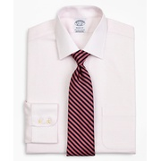 Brooksbrothers Stretch Regent Fitted Dress Shirt, Non-Iron Twill Ainsley Collar Micro-Check