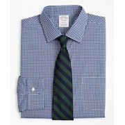 Brooksbrothers Stretch Soho Extra-Slim-Fit Dress Shirt, Non-Iron Poplin Ainsley Collar Gingham