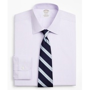 Brooksbrothers Stretch Soho Extra-Slim-Fit Dress Shirt, Non-Iron Poplin Ainsley Collar Fine Stripe