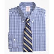 Brooksbrothers Stretch Madison Classic-Fit Dress Shirt, Non-Iron Gingham
