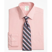 Brooksbrothers Stretch Milano Slim-Fit Dress Shirt, Non-Iron Hairline Stripe