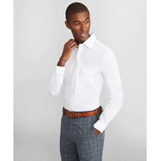 Brooksbrothers Milano Slim Fit Dress Shirt, Performance Non-Iron with COOLMAX, Ainsley Collar Twill