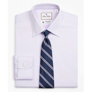 Brooksbrothers Luxury Collection Madison Classic-Fit Dress Shirt, Franklin Spread Collar Herringbone