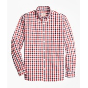 Brooksbrothers Checkered Broadcloth Oxford Sport Shirt