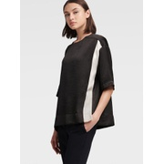 DKNY ELBOW SLEEVE COLORBLOCK TOP