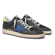 Golden Goose Ball Star Distressed Lizard-Effect Leather Sneakers