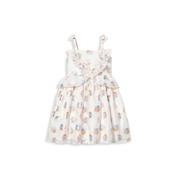 Janie and Jack Babys, Little Girls & Girls Ruffle Floral Jacquard Dress