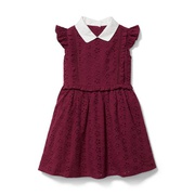 Janie and Jack Eyelet Collared Dress