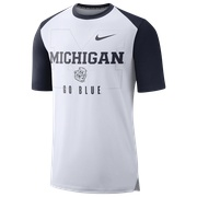 Jordan College Team Mantra T-Shirt - Mens / NCAA | Michigan Wolverines | White/College Navy