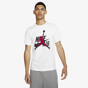 Jordan Classics Crew T-Shirt - Mens / White/Gym Red