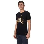 Jordan Classics Crew T-Shirt - Mens / Black/Metallic Gold