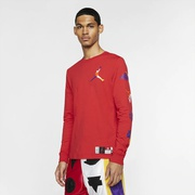 Jordan Sport DNA HBR Long Sleeve Crew T-Shirt - Mens / University Red