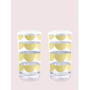 Kate spade scallop highball set