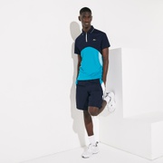 Lacoste Mens SPORT Ultra-Dry Pique Zip Tennis Polo Shirt