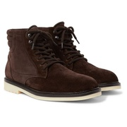 Loro Piana Icer Walk Shearling-Lined Suede Boots