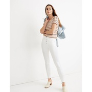 Madewell 10 High-Rise Skinny Jeans in Pure White: Step-Hem Edition