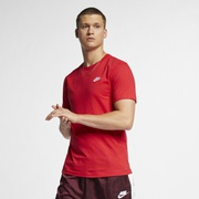 Nike Embroidered Futura T-Shirt - Mens / University Red/Black