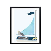 Potterybarn Little Sailor Wall Art by Minted