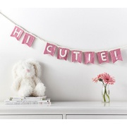 Potterybarn Hi Cutie Felted Wool Garland