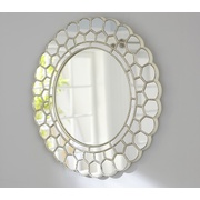 Potterybarn White Circle Blossom Mirror