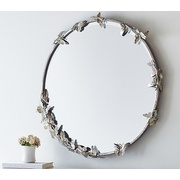 Potterybarn Monique Lhuillier Round Butterfly Mirror