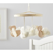Potterybarn Monique Lhuillier Gold Swans Crib Mobile