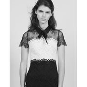 Sandro Two-tone lace dress