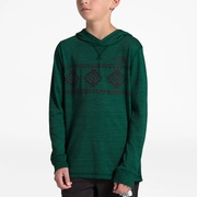 The North Face Lightweight Tri-Blend Hoodie - Boys Grade School / Night Green Heather