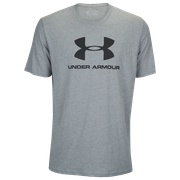 Under Armour Sportstyle Logo T-Shirt - Mens / Steel Light Heather/Black