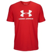 Under Armour Sportstyle Logo T-Shirt - Mens / Red/White