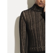 Vince Ladder Stitch Turtleneck